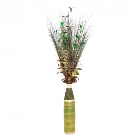 Flori uscate, 118 AR 38470, 150 cm, maro + verde