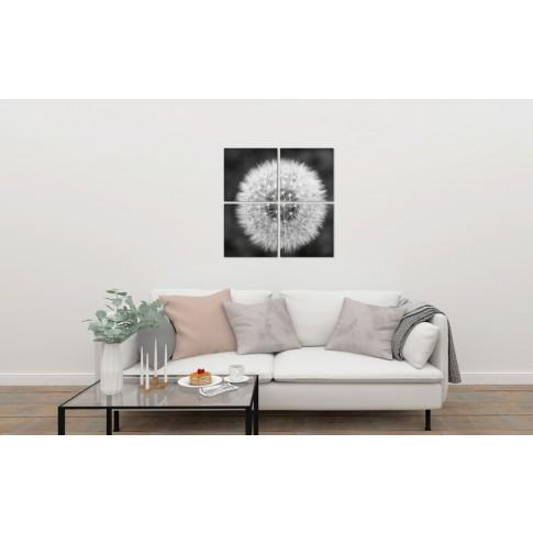 Tablou PT2948, 4 piese, compozitie cu flori, canvas, 80 x 80 cm