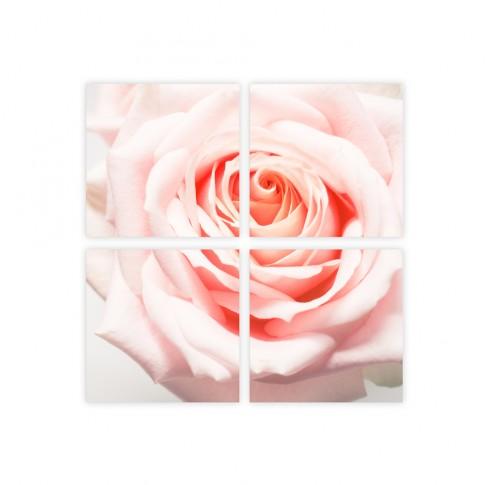 Tablou PT2949, 4 piese, compozitie cu flori, canvas, 80 x 80 cm