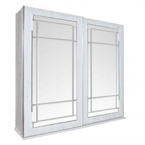 Dulap dormitor Opera L278/H230, crem, 2 usi glisante, cu oglinda, 278.5 x 62 x 230 cm, 10C