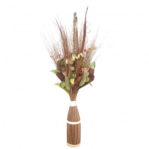 Flori uscate, 218 AR 38722, 100 cm, natural + maro