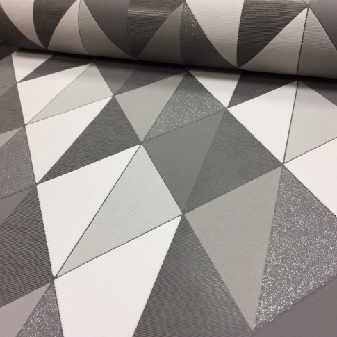 Tapet fibra textila, model geometric, Grandeco Orion ON3101, 10 x 0.53 m