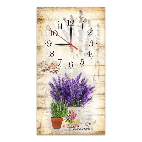 Ceas perete ES27032, analog, din lemn, 27 x 50 cm