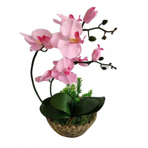 Floare artificiala JYH-3379, orhidee roz, 41 cm