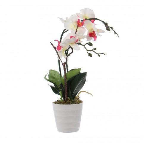 Floare artificiala S-0043, orhidee multicolora, 46 cm