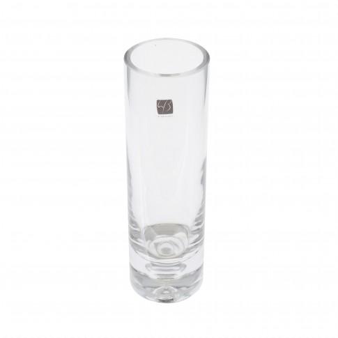 Vaza din sticla transparenta, tip cilindru, SB620, H 20 cm