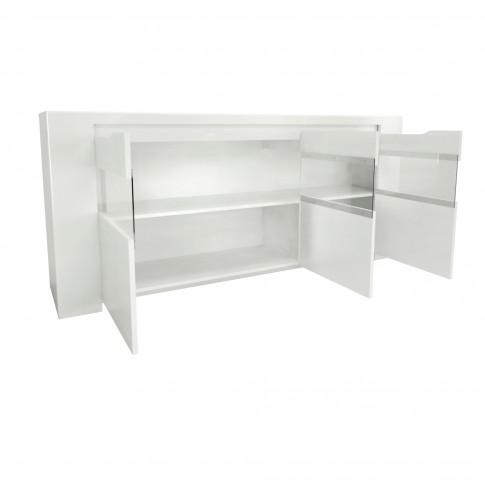 Bufet living cu 3 usi Orlando 0147ENFIK, alb, 180 x 41 x 85 cm, 2C
