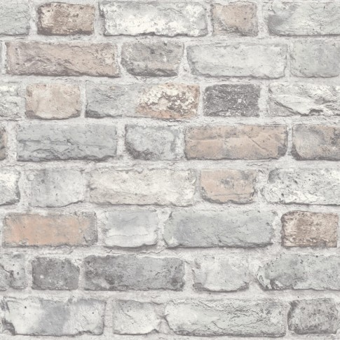 Tapet fibra textila, model caramida, Grandeco Vintage Brick A28902, 10 x 0.53 m