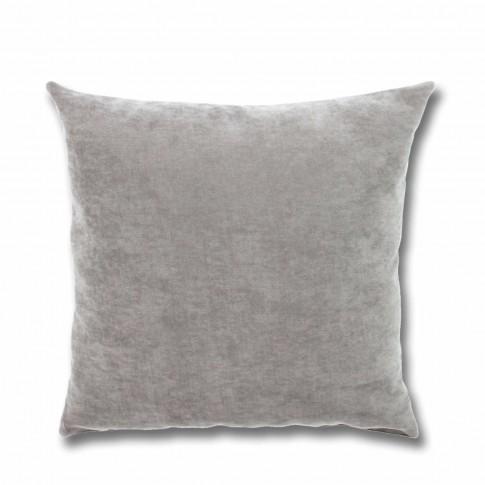 Perna decor Hazan 18, poliester + fibra poliester siliconizata, gri, 43 x 43 cm