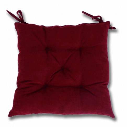Perna scaun Hazan 41, poliester + fibra poliester siliconizata, rosu, 43 x 43 cm