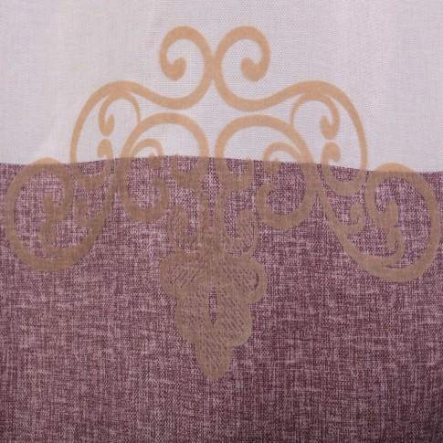 Draperie Velvet KT6229, poliester, crem + violet, H 280 cm