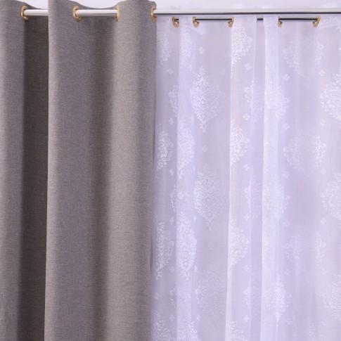 Perdea 1262, poliester, alb 1, H 280 cm