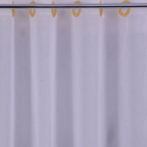 Perdea Sable Gy SO2, poliester, ivoriu, H 280 cm