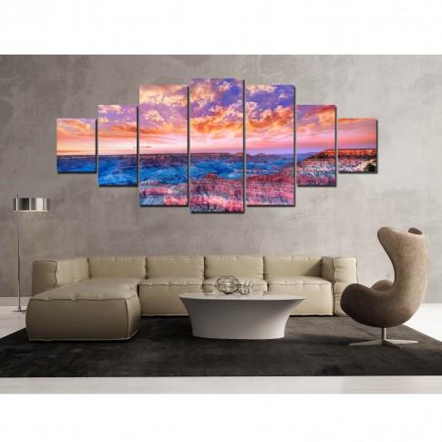 Tablou canvas, dualview, pe panza, 7MULTICANVAS175, Marele canion, 7 piese, 100 x 240 cm