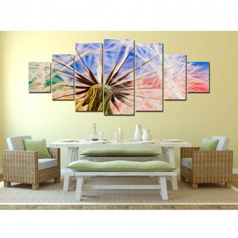 Tablou canvas, dualview, pe panza, 7MULTICANVAS187, Papadie, 7 piese, 100 x 240 cm