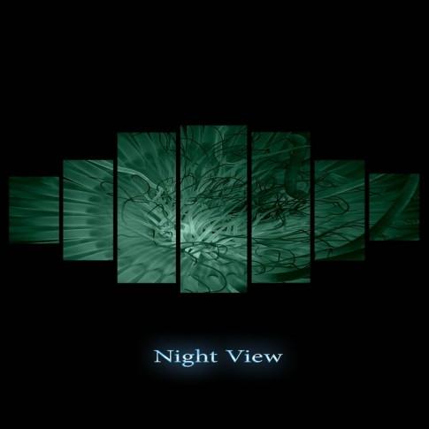 Tablou dualview 7MULTICANVAS155, 7 piese, Explorare, canvas + lemn de brad