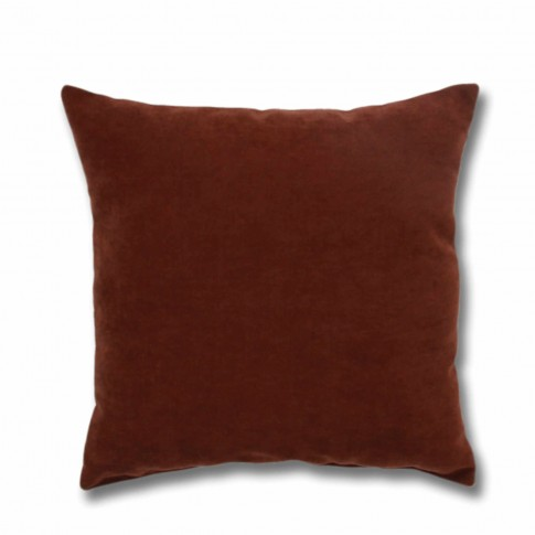 Perna decor Hazan 74, poliester + fibra poliester siliconizata, maro, 50 x 50 cm
