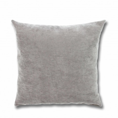 Perna decor Hazan 18, poliester + fibra poliester siliconizata, gri, 50 x 50 cm