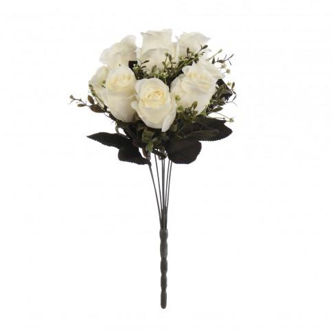 Buchet flori artificiale, YWGQ110, albe, 38 cm