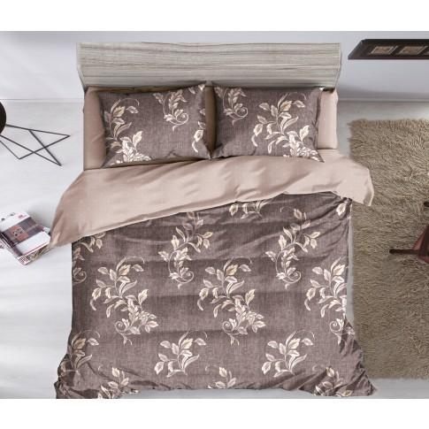 Lenjerie de pat 78931, 119, 2 persoane, microfibra 100 %, 6 piese, cu imprimeu floral