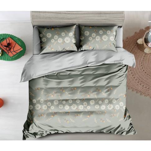 Lenjerie de pat Odetta 119, 2 persoane, poliester 100 %, 6 piese, cu imprimeu floral