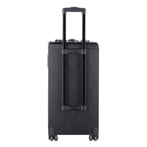 Boxa portabila activa Akai ABTS-112, 60 W, Bluetooth, USB, SD card slot, Aux in, radio FM, afisaj LED, negru, microfon, telecomanda