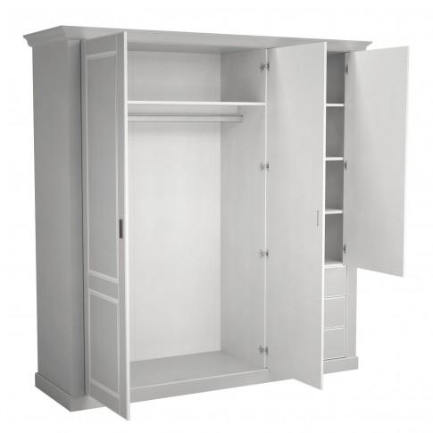 Dulap dormitor Clemence A3PT, gri deschis, 3 usi, 190 x 61.5 x 197.5 cm, 4C