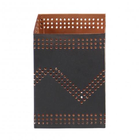 Suport lumanare metalic BS529-338, 7 x 7 x 10 cm