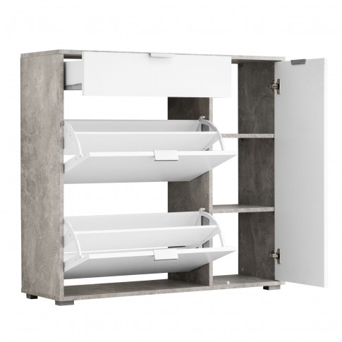 Pantofar Arco 2, beton + alb, 102 x 94.5 x 33 cm, 2C