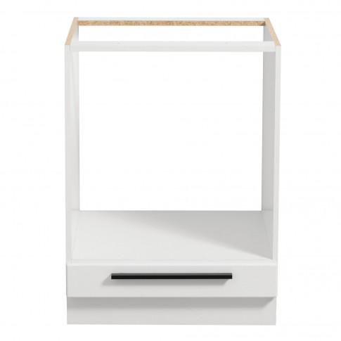 Corp inferior bucatarie Claudia D60 UR, cu blat, pentru cuptor, alb mat + folie lucioasa alba, 60 x 60 x 85 cm, 2C