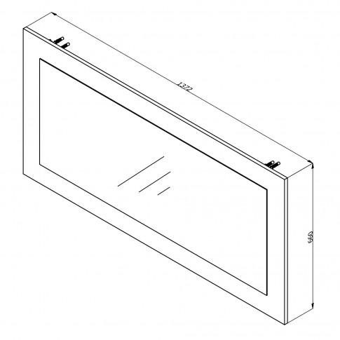 Oglinda pentru comoda dormitor Kent M, stejar alb, 137 x 66 x 2 cm, 1C