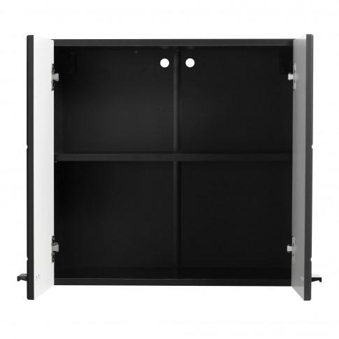 Corp hota bucatarie Claudia 60A, negru + folie mata neagra, 60 x 30 x 57 cm, 1C