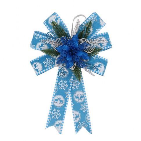 Decoratiune Craciun, tip funda, albastra, 36 cm, SYHHB-0319151