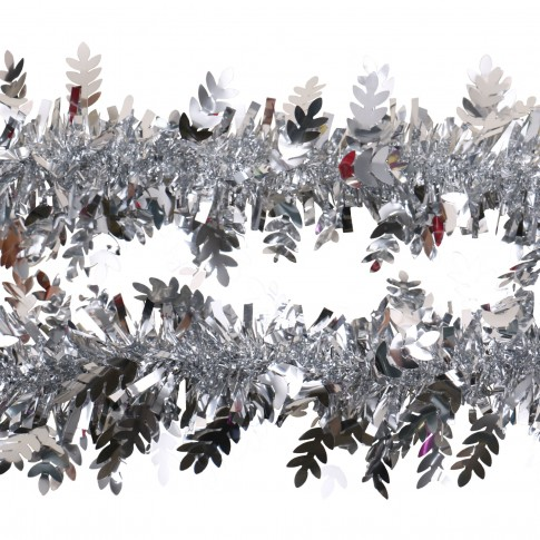 Beteala brad Craciun, argintie, SYMTA-171963, D 10 cm, 2 m
