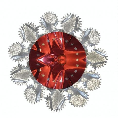 Beteala Craciun, rosu + argintiu, 2.4 m, SYLH-1719041