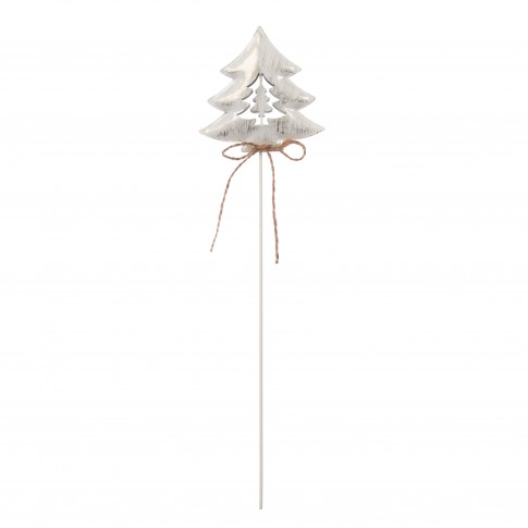 Decoratiune Craciun, alb + auriu, 9 x 1.8 x 36 cm, 3 bucati / set, SYYKLB-1919126