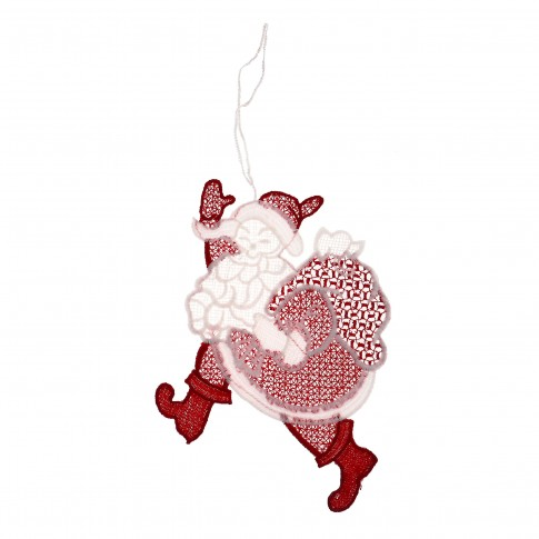 Decoratiune Mos Craciun, rosu + alb, 12 x 20 cm, SYMZ-231922