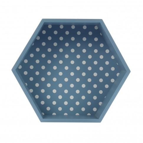 Tava hexagonala pentru servire, din MDF, JXP1912A, 30.5 x 26.5 x 10 cm