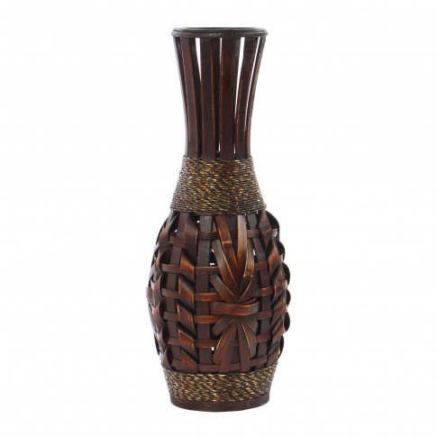 Vaza decorativa bambus,  DL-17356, maro, 50 cm