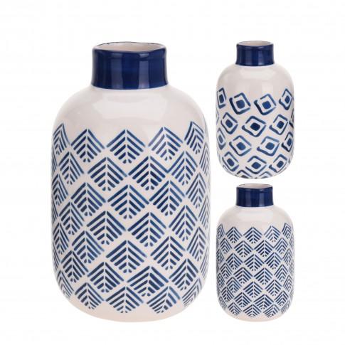 Vaza ceramica, Koopman ALX112540, diverse modele, H 16 cm