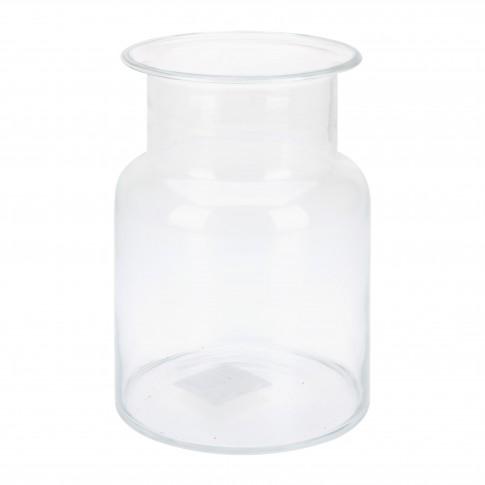 Vaza din sticla transparenta, Koopman DS2000290, H 24.5 cm