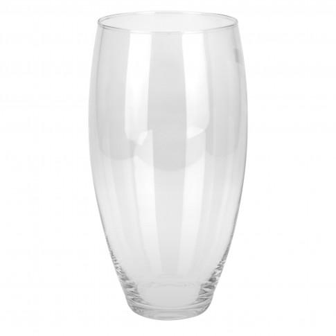 Vaza din sticla transparenta, conica, Koopman DS2000450, H 30 cm