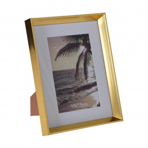 Rama foto Koopman 837500030, plastic, 10 x 15 cm, aurie