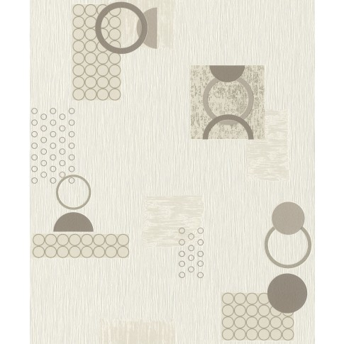 Tapet fibra textila, model geometric, Rasch Selection 809619, 10 x 0.53 m
