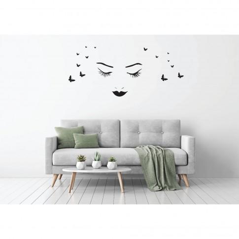 Sticker decorativ perete, dormitor, Women and love, PT3009 TR, 50 x 70 cm