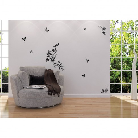 Sticker decorativ perete, hol, Fluturi, PT3008 TR, 50 x 70 cm
