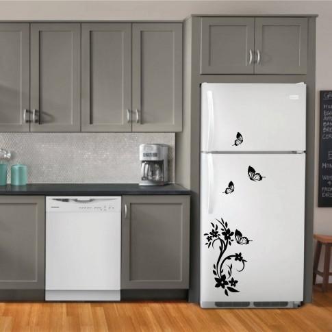 Sticker decorativ frigider, Fluturi, PT3007 TR, 50 x 70 cm