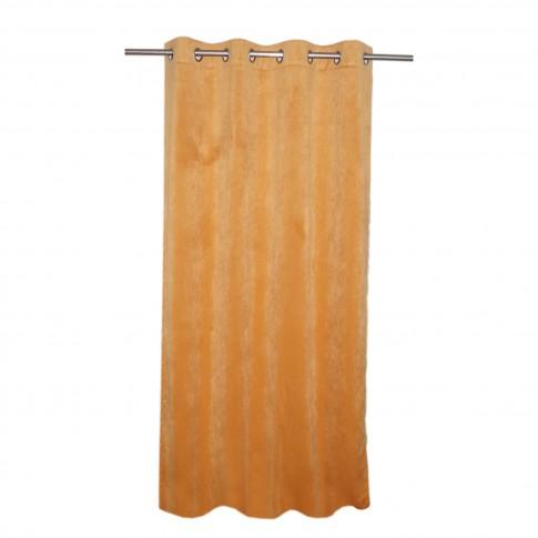 Draperie Velvet 30, cu inele, din poliester, portocaliu, h 245 cm, l 135 cm