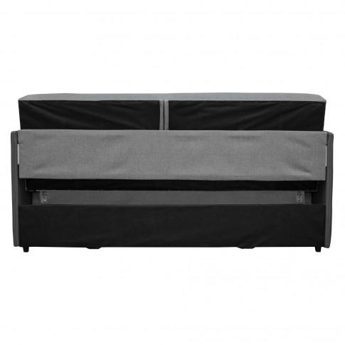 Canapea extensibila 3 locuri Karina, cu lada, gri, 203 x 97 x 100 cm, 3C
