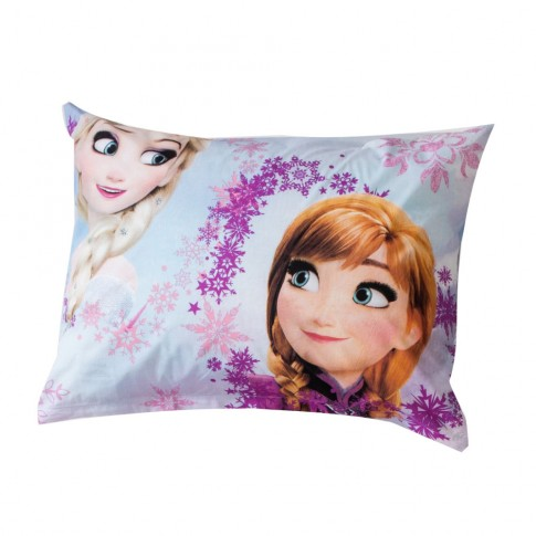 Lenjerie de pat, copii, 1 persoana, Frozen, bumbac, 2 piese, cu imprimeu